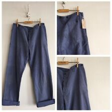 True Vintage Slub Cotton Chore Workwear Trousers Pants W36""