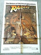 Vintage 1982 Raiders Of The Lost Ark Theatrical Release One Sheet Poster