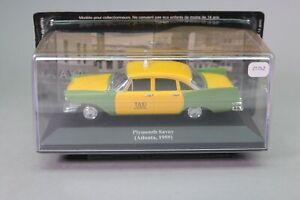 ZT752 IXO voiture 1/43 Taxi du Monde Plymouth Savoy Atlanta 1959 jaune et verte