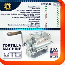 MTG Tortilla Machine - Roller & Crank – Two Different Cutters Included Your Pick