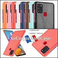 Etui Housse coque Crocodile Texture Design Case Cover Samsung Galaxy A21s
