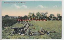 (93313) AK 1. WK, Maschinengewehre in Gefechtspause, Feldpost 1915