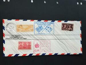 GB FDC 1937 CORONATION  FLOWN COVER-ANGLO-AMERICAN GOODWILL FLIGHT-DICK MERRILL