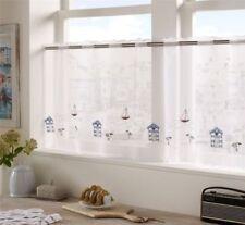 Rideaux et cantonnières multicolores avec des motifs Brodé pour la cuisine