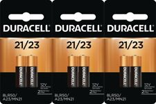 6 Pack Duracell A23 12 Volt Battery MN21 MN23 23AE 21/23 GP23 23A 23GA