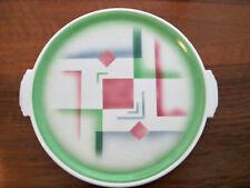 Art Deco Tortenplatte Bauhaus Spritzdekor geometrisch Ceramic Weimarer Republic