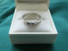 925 Sterling Silver Half Eternity Ring  - Size O 1/2 - VGC