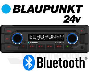 24v Radio CD Player Blaupunkt Dakar 224 BT W Bluetooth USB MP3 Aux Bus Lorry Etc
