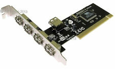 Hi Speed 5 PORT 4+1 USB 2.0 PCI EXPANSION CARD / EXPAND EXTRA MORE USBS HUB HUBS