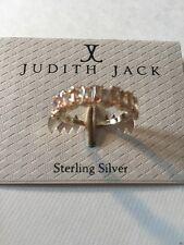 $88 Judith Jack 10k Gold Plated Sterling Silver Marcasite Ring Size 7 JJ3