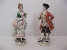 2363* 2 figurine porcelaine ancienne saxe ? anciennes signé a voir