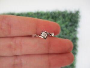 .017 Carat Diamond Engagement Ring 18k White Gold ER378 sep **