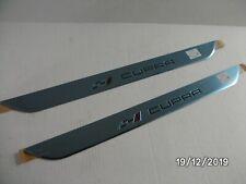 NEW GENUINE SEAT CUPRA SILL COVERS X2 CHROME / BLACK 5F0853373H 041