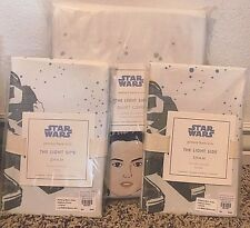 Pottery Barn Kids Star Wars light side FULL QUEEN duvet cover 2 shams