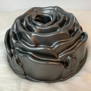 Nordic Ware Heavy Cast Aluminum Rose Flower Bundt Cake Pan *10 Cup* Made in USA
