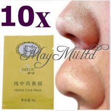 10pcs Herbal Deep Nose Pores Cleansing Stripes Blackheads Remover Conk Mask UR