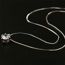 Crystal Pendant Necklace Long Chain Alloy Wedding Accessories Jewelry JDUK