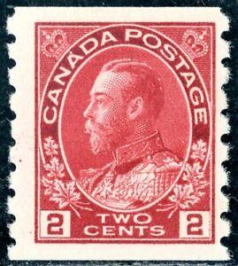 CANADA 1912/21 KGV ADMIRALS 2c & 3c COILS (IMPERF x PF 8) SG222 & 224 LMM