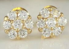 1.00 Carat Natural SI1 Diamonds in 14K Solid Yellow Gold Stud Earrings