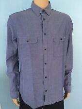 NWT Armani Jeans AJ Shirt Mens 100% Cotton Classic Button Front Blue M EU L