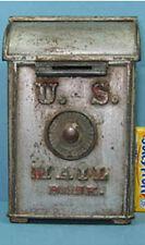 PRICE CUT*1903 U S MAIL BOX BANK W/COMBO LG CAST IRON GUARANTEED OLD ORIG CI 701