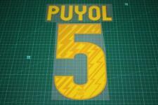 Barcelona 10/11 #5 PUYOL Homekit Nameset Printing