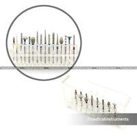 Dental Diamond Burs Set For Porcelain Shouldered Abutment 16PCS FG1.6