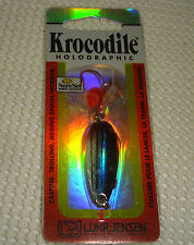 Luhr Jensen Krocodile Holographic SureSet Spoon 3/16 oz. - Blue Streak Color
