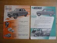 SIMCA ARONDE Mid 50's brochures - 2 de JM.