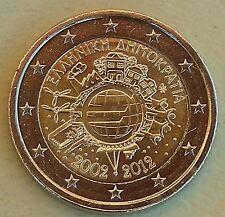 2 Euro Griechenland 2012 10 Jahre Euro unz