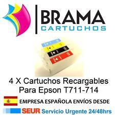 4X CARTUCHOS RECARGABLES NONOEM PARA EPSON STYLUS Cx4300 D78 D92 D120 Dx400