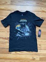 Youth Black NFL Jacksonville Jaguars Helmet Flex It T-Shirt