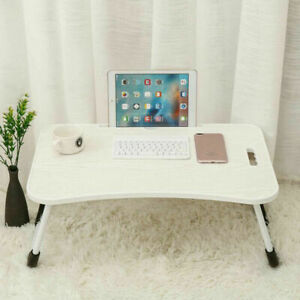 LAPTOP TABLE WITH FOLDING LEGS PORTABLE MULTIFUCTION LAP DESK NOTEBOOK CUP SLOT