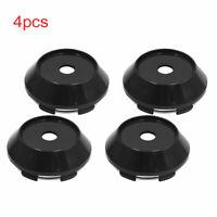 4pcs 67mm Dia Plastic Car Wheel Tyre Center Hub Caps Covers Protector Black