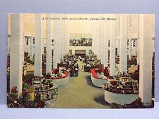 New Juarez Market Old Mexico Ciudad Chihuahua Vtg Postcard Posted 1954 Color