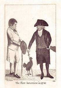 JOHN KAY Original Antique Etching. George Smith and Deacon William Brodie, 1788