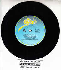 "SHAKIN' STEVENS  You Drive Me Crazy 7"" 45 vinyl record + juke box title strip"