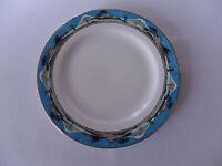 Myott White & Blue Rim with Unknown Design 17.5cm Tea Plates