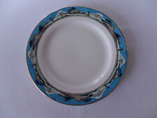 Myott White & Blue Rim with Unknown Design 17.5cm Tea Plates