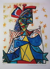 """Picasso """"Seated Woman with Red & Blue Hat"""" (Estate Collection Domaine) Ltd Ed"""