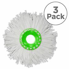 3 x JML Whizz Mop Replacement Absorbent Microfibre Heads Refill Machine Washable
