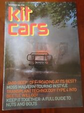 Kit Cars Dec 1982 Jago Geep, Moss Malvern