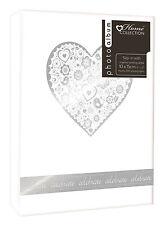 "White Wedding Photo Album SIlver Heart Design Holds 200 4 x 6"" Photographs SLKA"