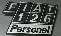 Sigla posteriore in plastica Fiat 126 Personal