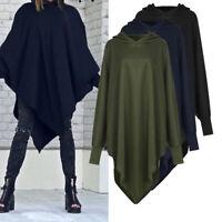 Mode Femme Automne et pull d'hiver Ourlet irrégulier Sweat-shirt Haut à capuche