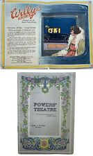 Powers Theater program Chicago 1916 Vintage car Advertising Willys-Knight 84-b