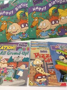 Rugrats vintage books 6 paperback 2 Party Bags Mix nickelodeon Lot