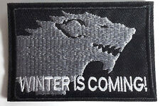 """Game of Thrones Winter is Coming- STARK House Patch 3""""- FREE S&H (GTPA-010)"""
