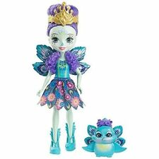 """Enchantimals Patter Peacock & Flap Doll 6"""" New New"""