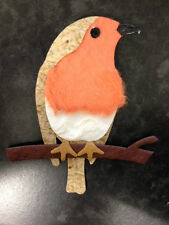 4 MULBERRY PAPER RED BREAST ROBIN CHRISTMAS CARD MAKING CRAFT EMBELLISHMENTS